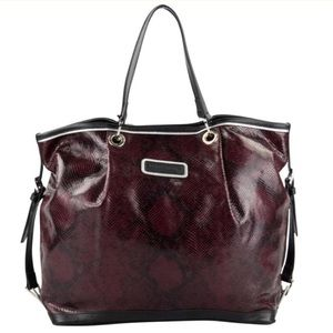 🆕LONGCHAMP LEATHER BURGUNDY TOTE